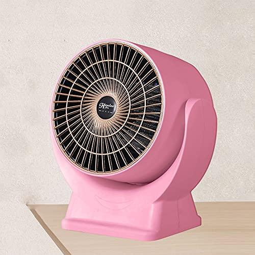 BcofoA Compatto dElegante Termoventilatore,Silence,a Basso consumo energetico,Stufetta in Ceramica,Termostato Intelligente,con Protezione da surriscaldamento/ribaltamento,Bianco (Color : Pink)
