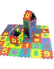 Slitstark mjuk Eva Foam Baby Kids Play Mat Alfabetnummer Pussel Leksaksgåva Färgrik Ca