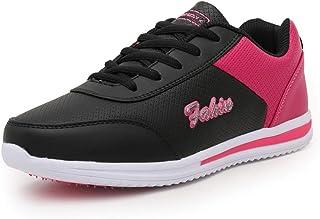 Zapatillas de Deporte Planas para Mujer Gimnasia Ligero Colores Mezclados Zapatillas Deportivas para Correr Fitness Comodo...