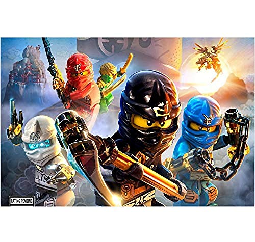 XQWZM canvas stof poster printen, spel Ninjago schaduw van Ronin canvas schilderij muurkunst afbeelding, voor hoofddecoratie 50 x 75 cm zonder lijst