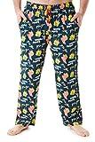 SpongeBob Squarepants Pijama Hombre, Bob Esponja Pantalon Pijama Hombre, Conjunto 2 Piezas Pijama Hombre Invierno 100% Algodon, Regalos para Hombre y Adolescente (Verde, XL)