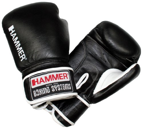 HAMMER - Prano, Guantoni da pugilato, Nero/Bianco, 8 oz