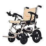 2020 Compacto Silla de ruedas eléctrica plegable, cómodo de manejar, no está cansado de un largo tiempo de peso ligero sillas de ruedas, sillas de ruedas portátiles for los ancianos. Silla de ruedas a