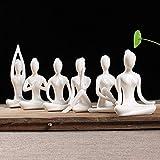Aifeer Figuras de yoga para meditación y yoga (6 unidades), color blanco