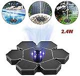 LGP Fuente Solar, Fuente Solar para Jardin 2.5W Flotante Kit Bomba Agua Sumergible Solar Ideal para Pequeño Estanque, Piscina Estanque, Fish Tank