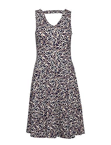 fransa Damen Kleid - Jersey Kleid mit Alloverprint, Mehrfarbig (Navy Blazer flower200624), 44 (Herstellergröße: XXL)