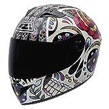 NZI Must II Graphics Casco De Moto(Mexican Skulls,X-Pequeña)