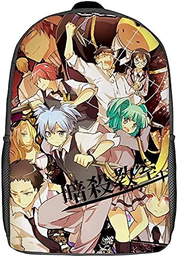 A-ssassina-tion - Mochila para clase, diseño de anime japonés, para niños y niñas, ideal como regalo de cumpleaños (A06,16 pulgadas)
