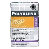 Polyblend Sanded Colored Tile Grout Dry Sandstone 7 Lb