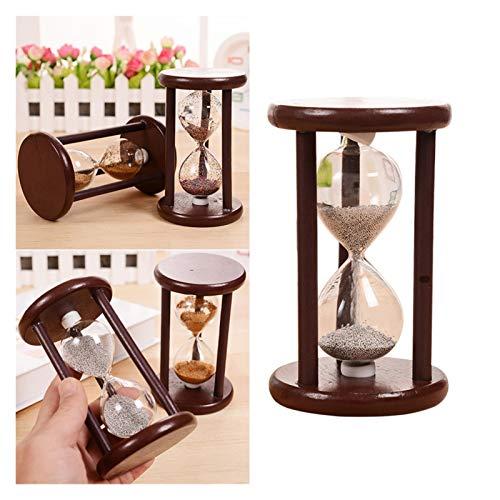 ZIJ 1 reloj de arena práctico retro de madera reloj de arena decoración reloj de arena temporizador para juegos oficina (color café)