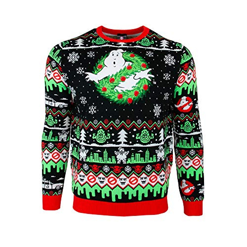 Official Unisex Ghostbusters Ugly Christmas Sweater for Adult