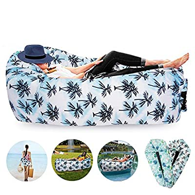 FORNY Air Chair Float Sofa Inflatable Couch Lounger Hommock Portable Picnic Outdoor Use for Camping Hiking Beach Pool (airsofa2)