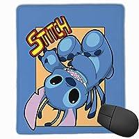 スティッチが回っています マウスパッド おしゃれ 高級感 ゲーミング オフィス最適 滑り止めゴム底 付着力が強い 耐久性が良 22x18x0.3cm