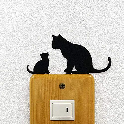 ねこ ウォールステッカー CAT LIFE 「なかよし親子」