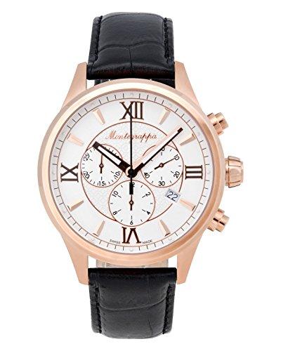 Montegrappa Fortuna Chronograph Quartz Uhr, PVD Rose Gold, Weiss, 42mm. IDFOWCRJ