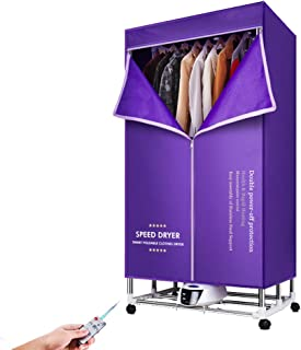 1600W Portable Electric Clothes Dryer, 15KG Capacity Energy Saving Folding Dryer Quick Dry & Efficient Mode Digital Automatic Timer with Remote Control
