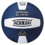 Tachikara Leather Indoor Volleyball, Navy
