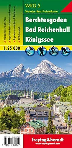 Berchtesgaden - Bad Reichenhall - Königssee, Wanderkarte 1:25.000, WKD 5, freytag & berndt Wander-Rad-Freizeitkarten