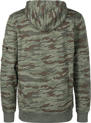 Alpha Industries Camo Print Hoodie Camouflage L