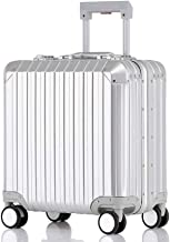 BFZJ suitcases Carry-On Luggage with 360° Spinner Wheels Hardshell Lightweight Suitcase with Password Lock Durable Trolley Case Boarding The Chassis for Men and Women (Color : White, Size : 18'')