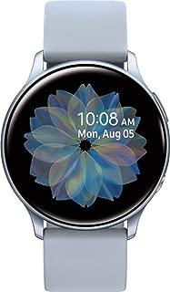 Samsung Galaxy Watch Active2 (Silicon Strap + Aluminum Bezel) Bluetooth - International (Cloud Silver, R830-40mm)