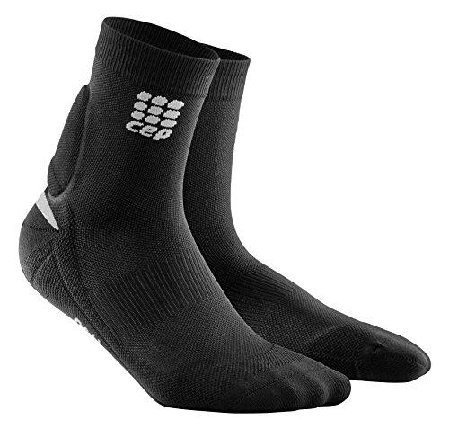 CEP Ortho+ Achilles Support Short Socks, Black/Green, Men, Size 3