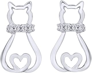 Best cat earrings white gold Reviews