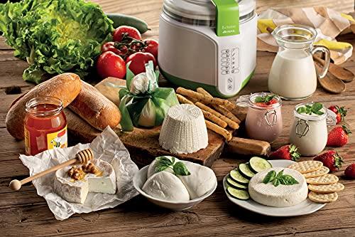 Ariete 615 B-Cheese Macchina per Formaggio e Yogurt, 6 programmi Pre impostati, Cestello Removibile Antiaderente, Adatto per Vegani e intolleranti, Ricco ricettario, 500 W, plastica, Bianco/Verde