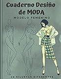 Cuaderno Diseño de Moda: Cuaderno de bocetos para crear sus estilos de moda | 480 siluetas de...