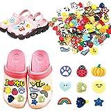 Decoración de zapatos Estilo al Azar - 100 Piezas Adornos de Zapatos PVC Encantos de Zapatos de Dibujos Animados, para Decoración de Fiestas, Regalos de Navidad para Niños