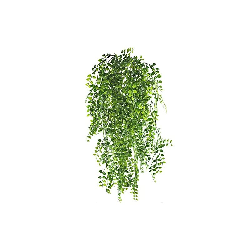 silk flower arrangements hogado 2pcs artificial ivy fake hanging vine plants decor plastic greenery for home wall indoor outdside hanging basket