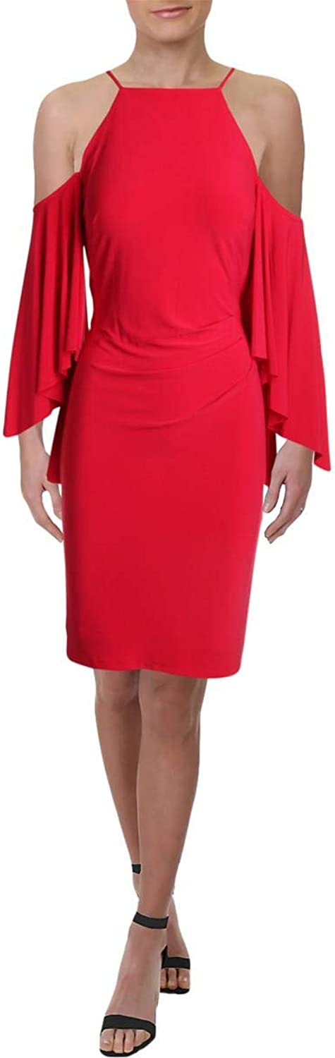 Lauren Ralph Lauren Womens BellSleeve Ruched Party Dress