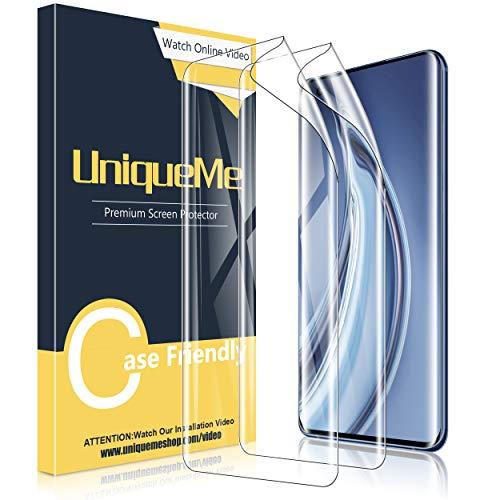 UniqueMe [2 Stück] Schutzfolie für Xiaomi Mi 10 / Mi 10 Pro Bildschirmschutz, Blasenfrei, TPU Xiaomi Mi 10 / Mi 10 Pro [Blasenfreie] [Anti-Kratzer] Bildschirmschutzfolie