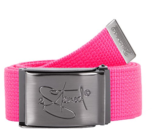 2Stoned Geldgürtel Money Belt Neon-Pink 4 cm breit matte Schnalle Classic für Damen