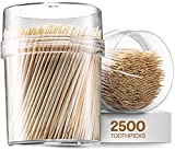 2500 Wooden Toothpicks - With Reusable Holder...