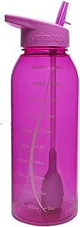 refresh2go 34oz Milestone Filtered Water Bottle, Pink (11080-P)