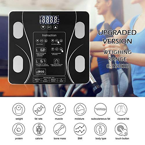 DIF Body Fat Bathroom Scale Floor Scientific Smart Electronic LED Digital Weight Household weighing balance