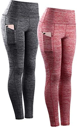 Neleus Women s Yoga Pant Running Workout Leggings with Pocket Tummy Control High Waist 9033 product image