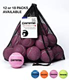 Gamma Bag of Pressureless Tennis Balls - Sturdy & Reuseable Mesh Bag with Drawstring for Easy Transport - Bag-O-Balls (18-Pack of Balls, Pink)