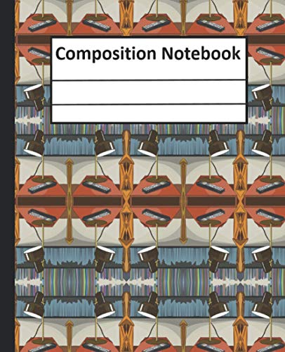 Composition Notebook: Lamp Light Table Themed Beautiful Cover Wide Ruled Composition Notebook For Kids , Boys, Girls, Students, Gift, Home, School, College Cute ( Notebook Journal ) 7.5*9.25 Paperback