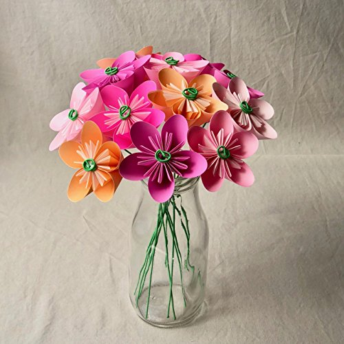 Pink Blush Origami Flower Bouquet