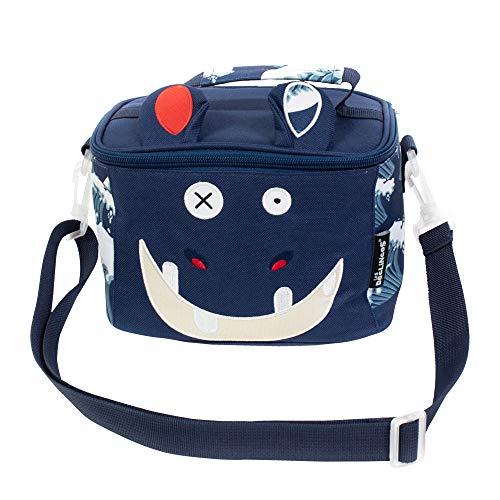 LES DÉGLINGOS Sac Isotherme Bébé (Hippipos l'Hippo) - Lunch Bag Enfant - Bagage Repas Enfant Garçon - Bandoulière - Pique-Nique Goûter - Isolant PEVA - Bleu
