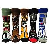 5 pares de calcetines divertidos de Star Wars, calcetines de algodón personalizados, regalos para el día de San Valentín - - Medium