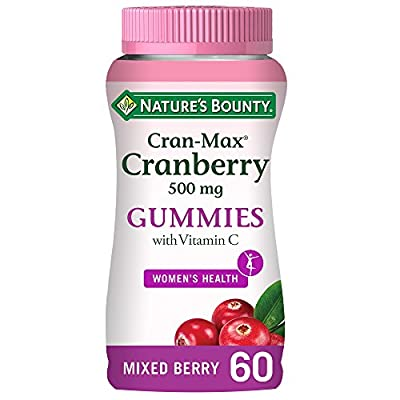 Nature's Bounty Cran-Max Cranberry 500 mg Gummies with Vitamin C - Pack of 60