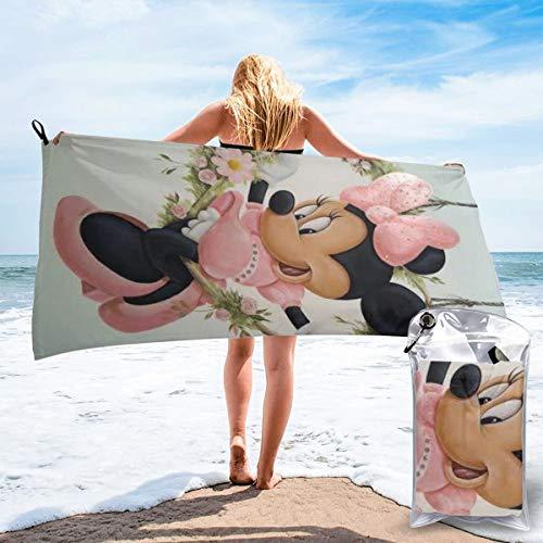 JJKKFG-H Minnie Anime Toalla de secado rápido, ligera, para toallas de baño suaves para piscina, natación, viajes, silla de playa 31.5 pulgadas X63