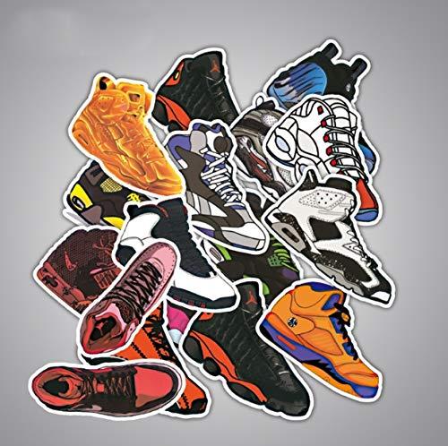 Paquete de Pegatinas 100 Piezas Calzado de Baloncesto Calzado Deportivo Marca de la Marea Pegatinas Creativas Maleta de Viaje Calzado Decorativo Pegatinas Guitarra Patineta Impermeable Graffiti