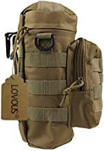 LOVOUS Military MOLLE Tactical Travel Water Bottle Kettle Pouch Carry Bag Case for Outdoor Activities (Coyote Tan)