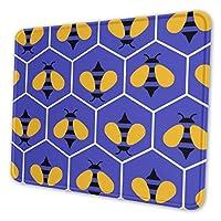 マウスパッド 超大型 ゲーミングマウスパッド 蜂パープル おしゃれ シンプル 高級感 ゲーミング デスクマット 防水 疲労軽減 耐久性が良い 滑り止めゴム底 ゲーミングなど適用 マウスの精密度を上がる (複数サイズ)