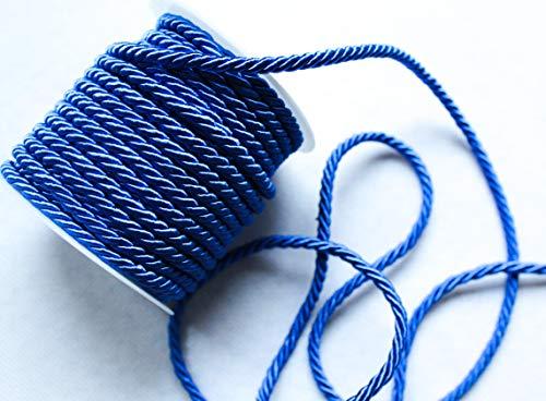 CaPiSo - Cordoncino girevole da 15 m x 4 mm, colore: Blu scuro
