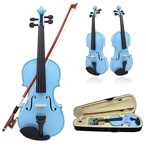 BLKykll 4/4 Violine Mit Hardcase in Holzoptik,Mit Hartschalenkoffer,Bogen, Kolophonium Für Studenten Starter Anfänger